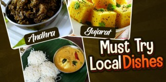 Indian States Local Dishes