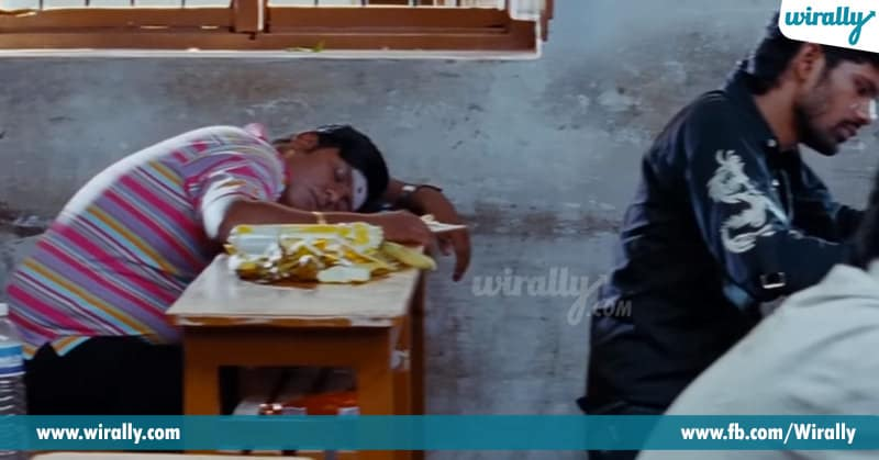 sleeping in exam
