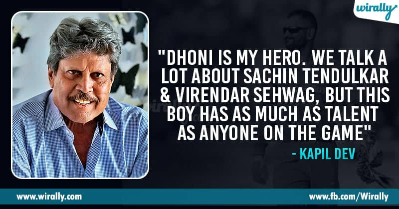 Legendary Cricketers Quotes On Dhoni