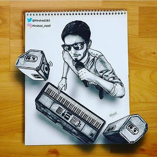 3d art sketches