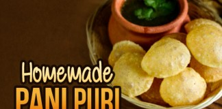 Pani Puri At Home