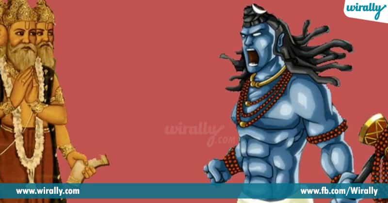 Lord Shiva Chop Off Lord Brahma's Fifth Head