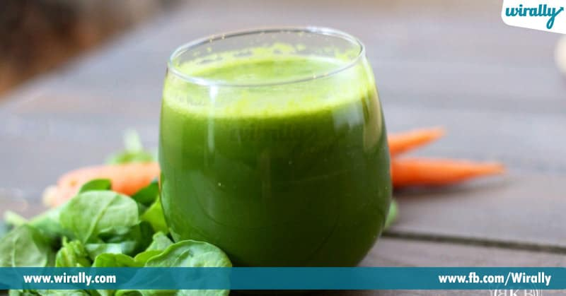 2-Spinach and ginger juice