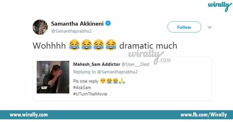 Samantha Akkineni's Twitter Replies
