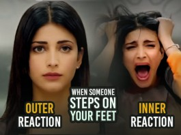 Our Outer Reaction Is Totally Opposite