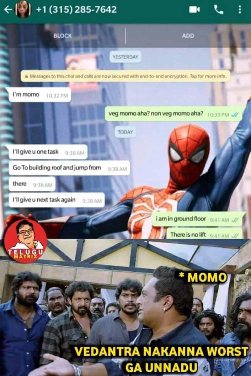 Telugu Pages Trolling 'Momo Challenge'