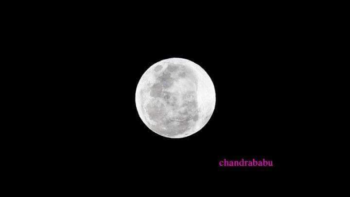 Sai baba's Reflection On Moon
