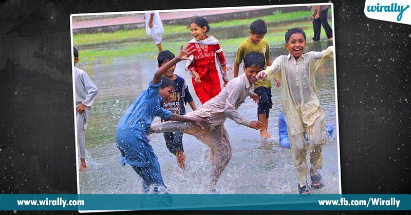3 - childern playing in water