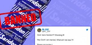 Govt Banned 'Saridon'