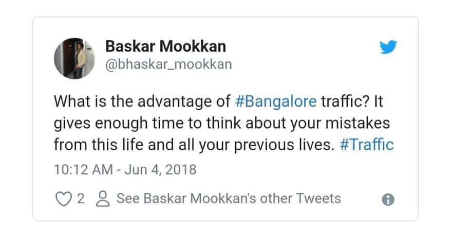 12. Bangalore Traffic Tweets