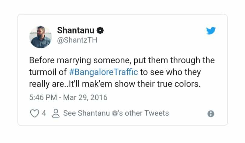 14. Bangalore Traffic Tweets