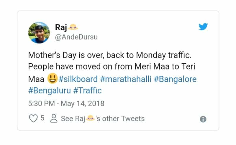 16. Bangalore Traffic Tweets