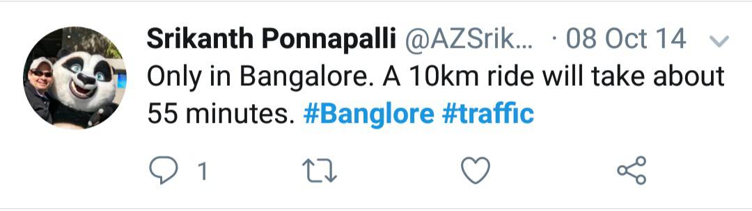 18. Bangalore Traffic Tweets
