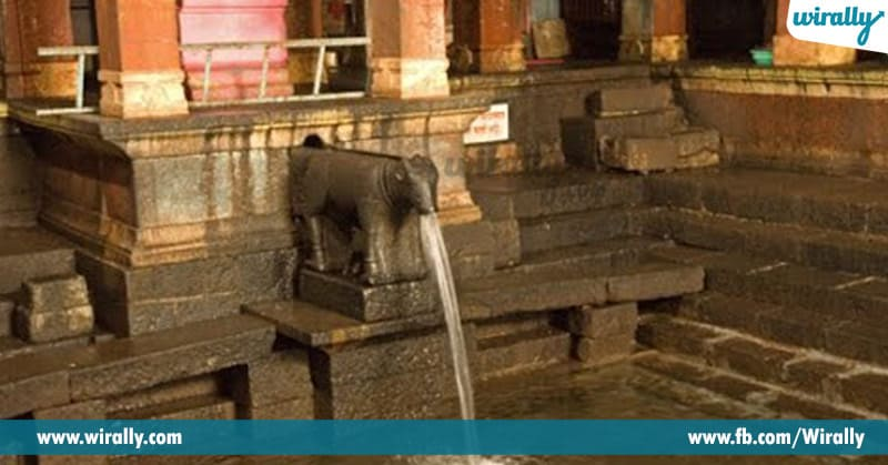 5 Rivers Flow Above Shiva Lingam