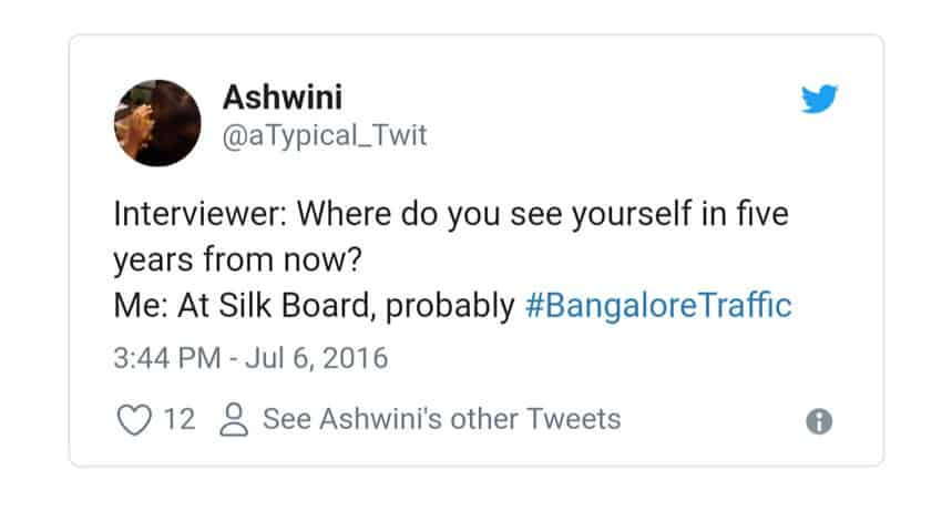 2. Bangalore Traffic Tweets