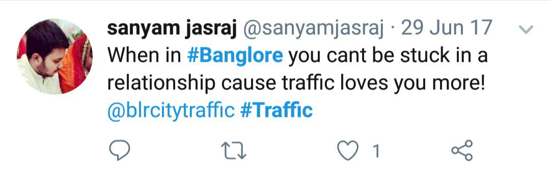 21. Bangalore Traffic Tweets