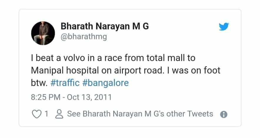 6. Bangalore Traffic Tweets