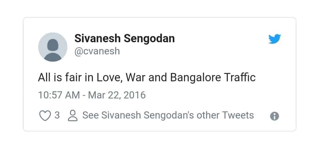 7. Bangalore Traffic Tweets