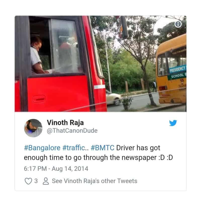 8. Bangalore Traffic Tweets