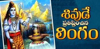 Lord Shiva Enshrined Shivalinga