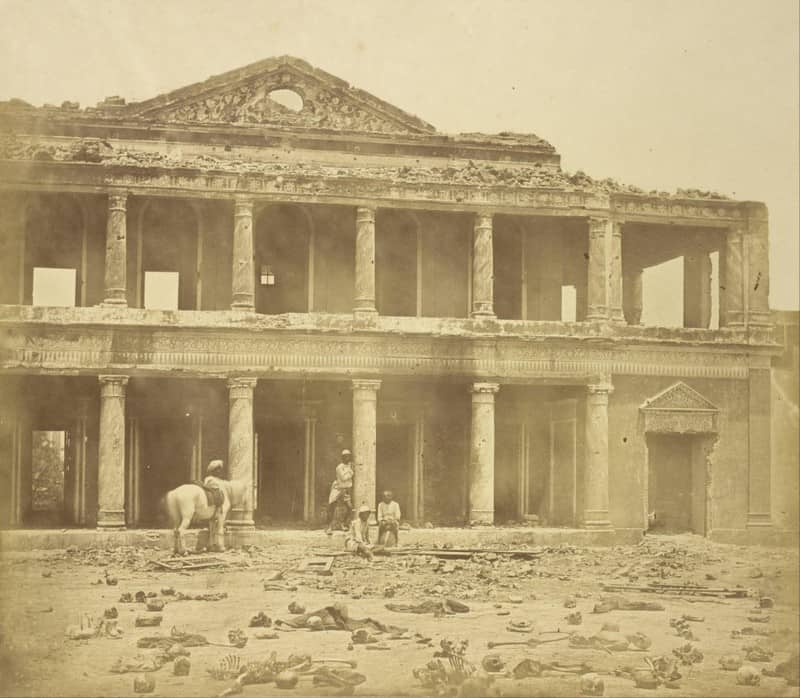2. Secundrabad, in the year 1858 after the slaughter of 2000 rebels, with numerous skeletons scattered all around