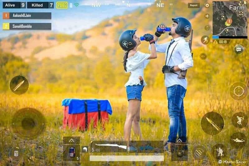 Photoshoot With 'PUBG' Based Theme