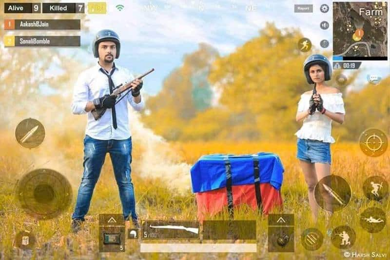 Photoshoot With 'PUBG' Based Theme