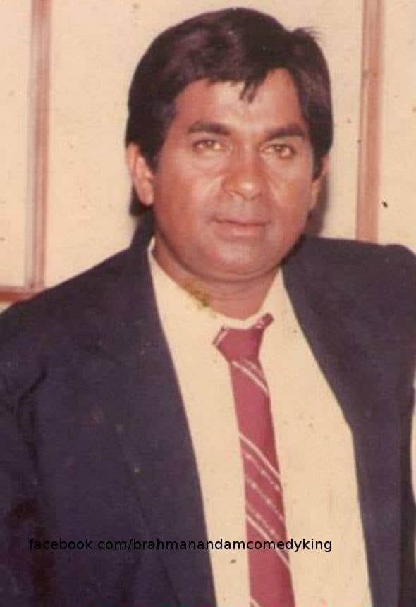 1. Young Brahmanandam in his earliers days in industry