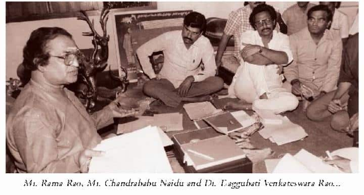 11. NTR with Chandrababu Naidu and Daggubati Venkateswar Rao