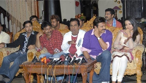 11. with Venky and others at Namo Vekatesa shoot time