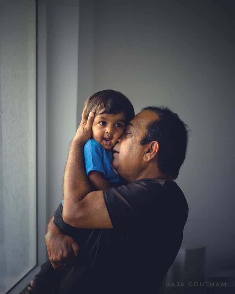 14. pampering his grandson