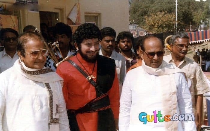 16. Three Superstars in one pic NTR-ANR with Krishna