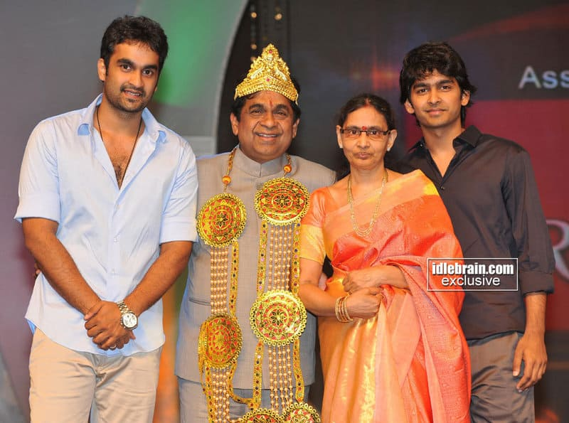 2. With his Wife and sons Goutham and Sid