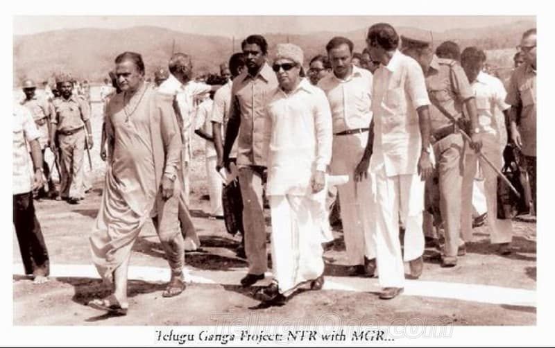 21. NTR with MGR during Telugu Ganga project