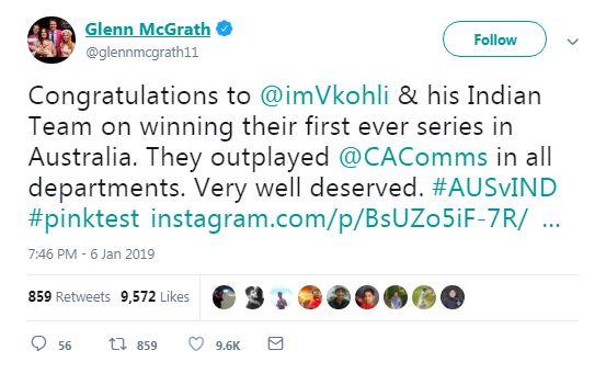 4. ind vs aus Cricket