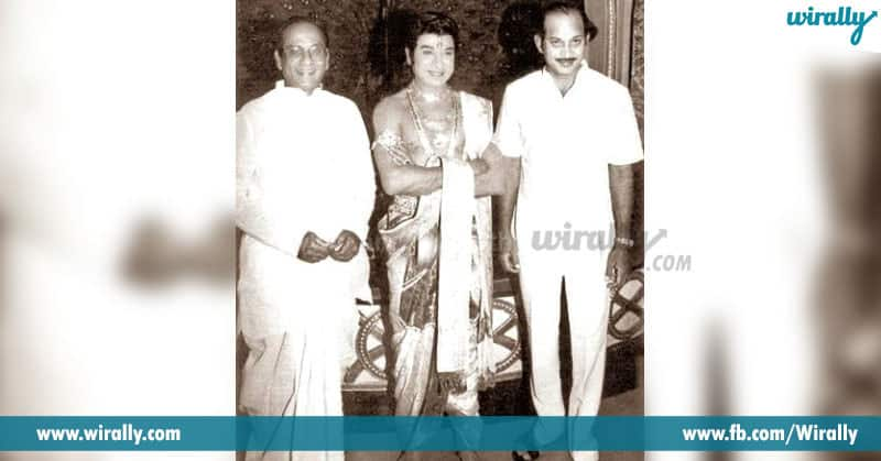 9. Krishna and ANR with Kannada superstar Rajkumar