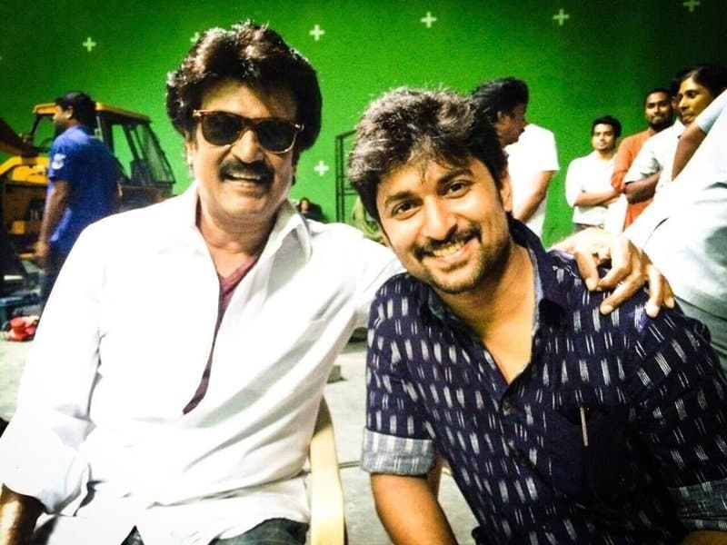 12. Nani fan boy moment with Superstar Rajinikanth