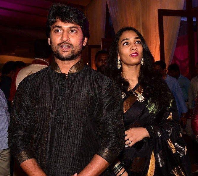 19. Nani and Anjana in black n black outfits