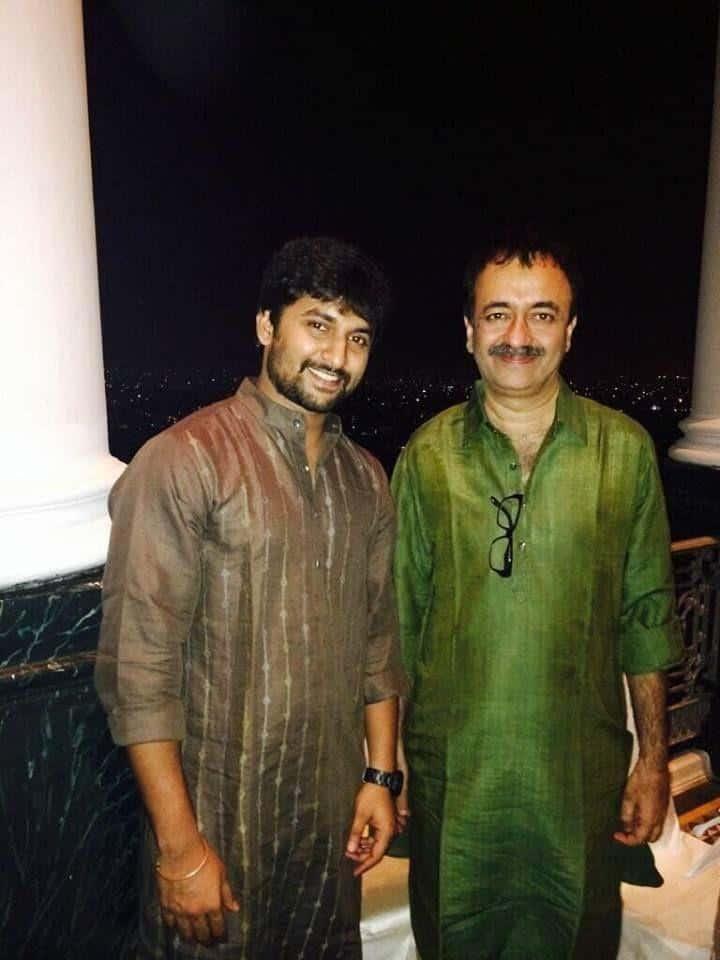 20. Nani with Bollywood director Raj Kumar Hirani