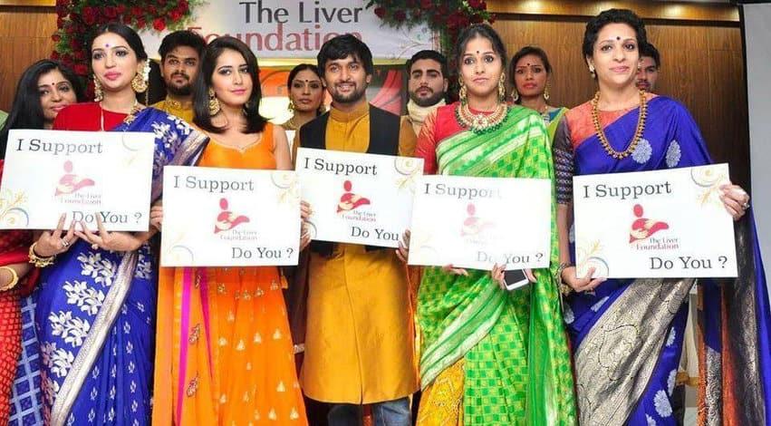 22. Nani with Rashi Khanna and others for a campaign