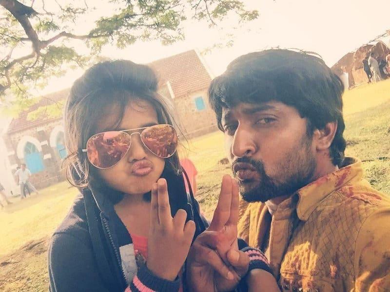 25. Awww cute selfie from the sets of Krishnagadi Veera Premagadha