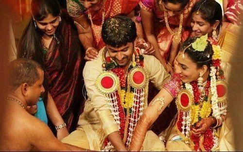 26. Nani and Anjana's candid wedding click
