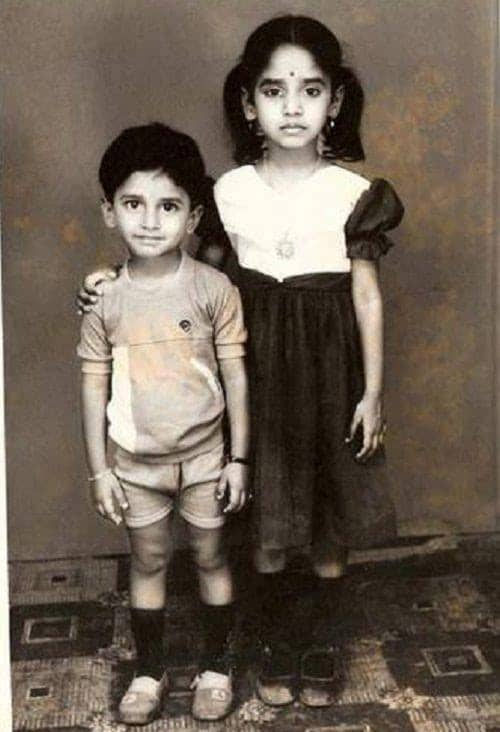 3. Nani with his sister childhood pic