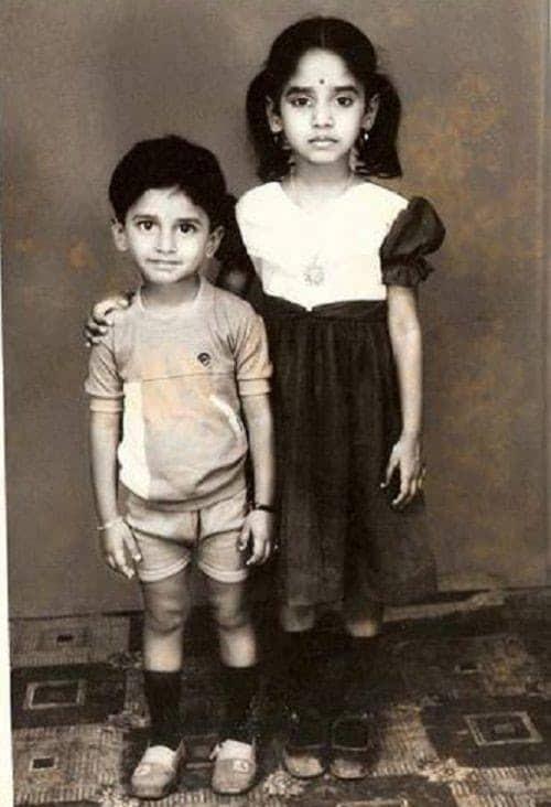 3. Nani with his sister childhood pic