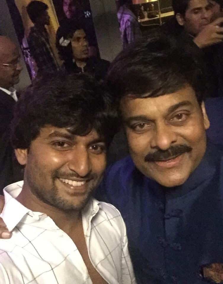 34. Nani fan boy moment with Megastar Chiranjeevi