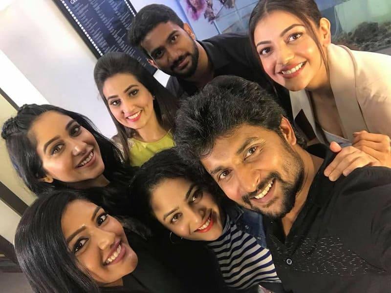 37. Nani with Regina, Nithy Menen, Kajal, Eesha Rebba and Prashanth Varma (Awe Director)