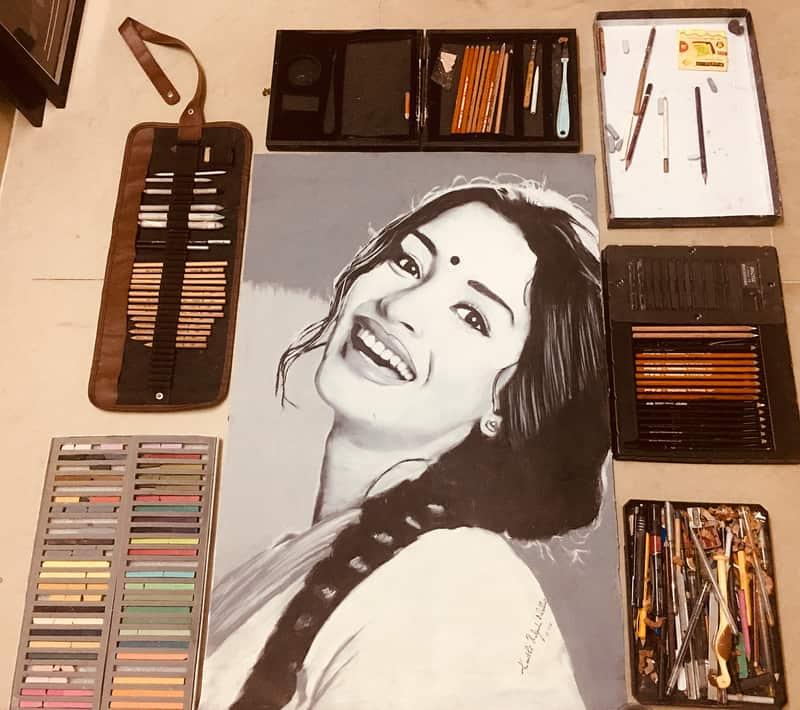 Keerthy Pratyusha Charcoal Paintings