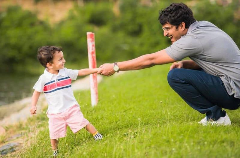 41. Nani and his son Arjun Adorable pic