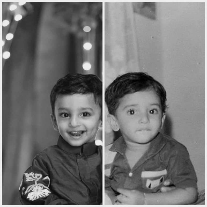 42. Nani and Junior Nani Arjun in one frame (twinning)