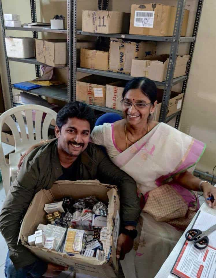 45. Nani with his mother on last day of her work as Pharmacist